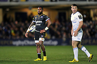 Niko Matawalu of Bath Rugby looks on. European Rugby Champions Cup match, between Bath Rugby and Leinster Rugby on November 21, 2015 at the Recreation Ground in Bath, England. Photo by: Patrick Khachfe / Onside Images