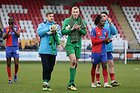 Daggers players thank the fans during Dagenham & Redbridge vs Bromley, Vanarama National League Football at the Chigwell Construction Stadium on 9th March 2019