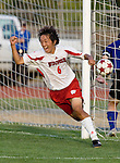 MADISON, WI - SEPTEMBER 4: Sho Fujita #6 of the Wisconsin Badgers celebrates the winning goal in overtime against the Drake Bulldogs at the McClimon Soccer Complex on September 4, 2005 in Madison, Wisconsin. The Badgers beat the Bulldogs 2-1 in overtime. Photo by David Stluka.