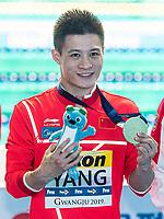 YANG Jian CHN CHINA Gold Medal<br /> Gwangju South Korea 20/07/2019<br /> Diving Men's 10m Platform Final<br /> 18th FINA World Aquatics Championships<br /> Nambu University Aquatics Center <br /> Photo © Andrea Staccioli / Deepbluemedia / Insidefoto