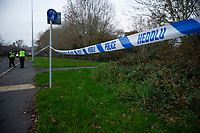 2018 11 22 Officers were called to the area near Brookfield Drive in St Mellons, Cardiff, Wales, Uk