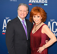 LAS VEGAS, NV - APRIL 7: Reba McEntire and Ethan Miller attend the 54th Annual ACM Awards at the Grand Garden Arena on April 7, 2019 in Las Vegas, Nevada. <br /> CAP/MPIIS<br /> &copy;MPIIS/Capital Pictures