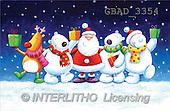 Addy, CHRISTMAS SANTA, SNOWMAN, paintings(GBAD3354,#X#)