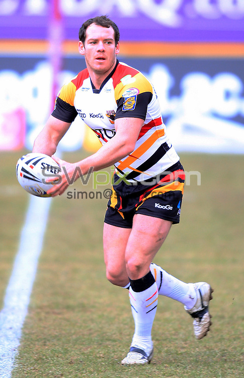 Pix: Chris Mangnall /Swpix.com, Rugby League, Super League. 14/02/10 Bradford Bulls v St Helens Saints....picture copyright>>Simon Wilkinson>>07811267 706>>....Bradford's (9) Heath L'Estrange