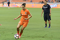 Houston, TX - Saturday July 22, 2017: Carli Lloyd during warm ups prior to a regular season National Women's Soccer League (NWSL) match between the Houston Dash and the Boston Breakers at BBVA Compass Stadium.