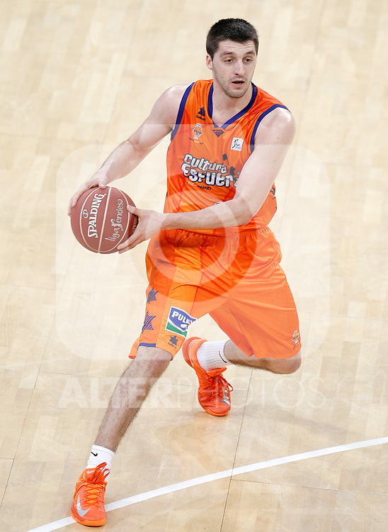 Valencia Basket Club's Stefan Markovic during Spanish Basketball King's Cup match.February 07,2013. (ALTERPHOTOS/Acero)