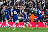 Chelsea's Willian celebrates scoring his sides second goal     <br /> <br /> <br /> Photographer Craig Mercer/CameraSport<br /> <br /> Emirates FA Cup Semi-Final - Chelsea v Tottenham Hotspur - Saturday 22nd April 2017 - Wembley Stadium - London<br />  <br /> World Copyright &copy; 2017 CameraSport. All rights reserved. 43 Linden Ave. Countesthorpe. Leicester. England. LE8 5PG - Tel: +44 (0) 116 277 4147 - admin@camerasport.com - www.camerasport.com