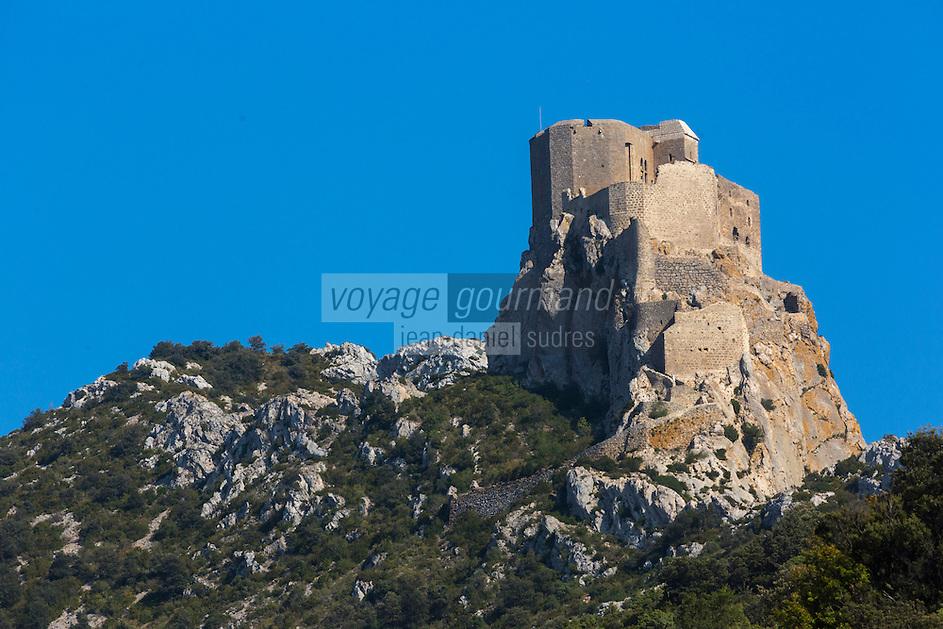 France, Aude (11), Cucugnan,  le château cathare de Quéribus //France, Aude, Cucugnan, Cathar castle of Queribus