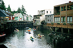 Ketchikan - Creek Street, Alaska, With Kayakers
