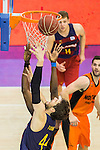 FC Barcelona Lassa's Ante Tomic during the match of Endesa ACB League between Fuenlabrada Montakit and FC Barcelona Lassa at Fernando Martin Stadium in fuelnabrada,  Madrid, Spain. October 30, 2016. (ALTERPHOTOS/Rodrigo Jimenez)