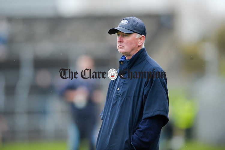 Cratloe manager Joe Mc Grath looking dissapointed on the sideline during the senior county hurling final at Cusack Park. Photograph by John Kelly.