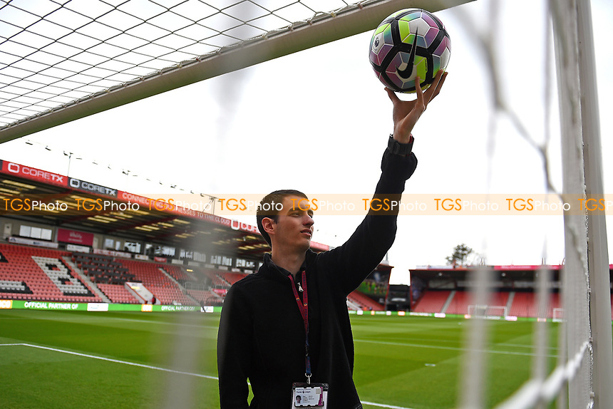 The goal line technology is tested during AFC Bournemouth vs Middlesbrough, Premier League Football at the Vitality Stadium on 22nd April 2017