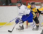 Jennifer Botterill (Toronto - 17), Kacey Bellamy (Boston - 22) - The Boston Blades defeated the visiting Toronto Hockey Club 4-2 on Sunday, February 6, 2011, at Bright Hockey Center in Cambridge, Massachusetts.