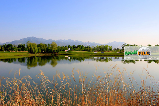 General view across the lake on the 8th hole during the second round of the Volvo China Open played at Topwin Golf and Country Club, Huairou, Beijing, China 27- 30 April 2017.<br /> 27/04/2017.<br /> Picture: Golffile | Phil Inglis<br /> <br /> <br /> All photo usage must carry mandatory copyright credit (&copy; Golffile | Phil Inglis)