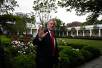 Mark Meadows, Assistant to the President and Chief of Staff, waves to the media upon his return with United States President Donald J. Trump to the White House in Washington from Michigan on May 21, 2020. <br /> Credit: Yuri Gripas / Pool via CNP/AdMedia