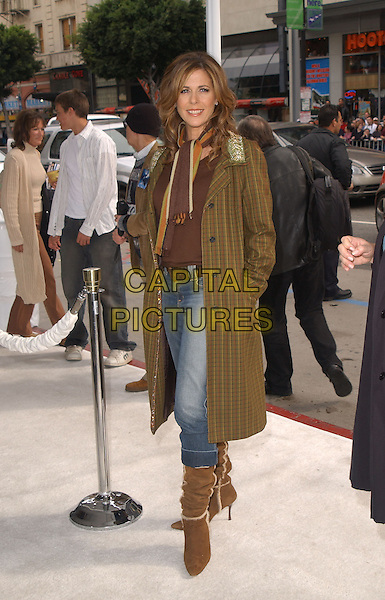 "RITA WILSON.The Warner Brothers' World Premiere of ""Polar Express"" held at The Graumann's Chinese Theatre in Hollywood, California on .November 7th, 2004.full length, green tweed jacket, jeans, denim, suede boots, hands in pockets.www.capitalpictures.com.sales@capitalpictures.com.©Debbie Van Story/Capital Pictures"