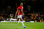 Marcus Rashford of Manchester United celebrates after scoring his sides second goal during the UEFA Europa League Quarter Final 2nd Leg match at Old Trafford, Manchester. Picture date: April 20th, 2017. Pic credit should read: Matt McNulty/Sportimage