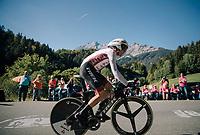 Toms Skujins (LAT/Trek Segafredo)<br /> <br /> MEN ELITE INDIVIDUAL TIME TRIAL<br /> Hall-Wattens to Innsbruck: 52.5 km<br /> <br /> UCI 2018 Road World Championships<br /> Innsbruck - Tirol / Austria