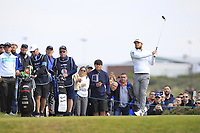 Tyrrell Hatton (ENG) on the 2nd tee during Round 3 of the Betfred British Masters 2019 at Hillside Golf Club, Southport, Lancashire, England. 11/05/19<br /> <br /> Picture: Thos Caffrey / Golffile<br /> <br /> All photos usage must carry mandatory copyright credit (&copy; Golffile | Thos Caffrey