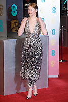 Emma Stone<br /> at the 2017 BAFTA Film Awards held at The Royal Albert Hall, London.<br /> <br /> <br /> ©Ash Knotek  D3225  12/02/2017
