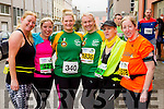 Ethel Meehan, Carol O'Hanlon, Niamh O'Sullivan, Liz O'Donoghue, Deirdre Finn and Karen Nelligan at the start of the Kerry's Eye Tralee, Tralee Half Marathon on Saturday.