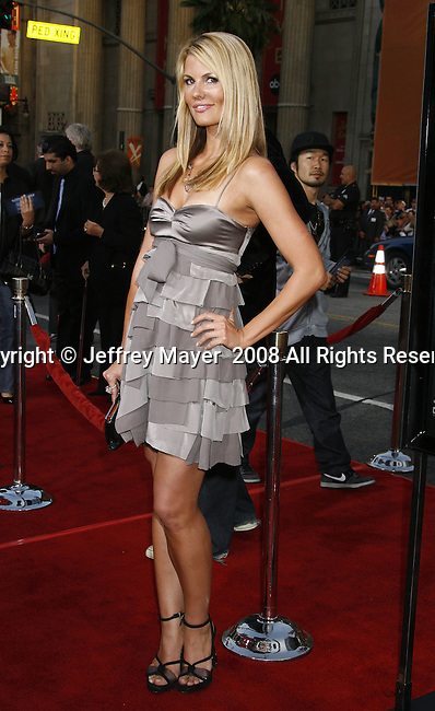 "TV host Courtney Hansen arrives to the ""Iron Man"" premiere at Grauman's Chinese Theatre on April 30, 2008 in Hollywood, California."