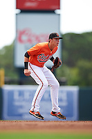 Baltimore Orioles shortstop Ryan Mountcastle (54) during an Instructional League game against the Tampa Bay Rays on September 19, 2016 at Ed Smith Stadium in Sarasota, Florida.  (Mike Janes/Four Seam Images)