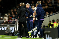 14th January 2020; Tottenham Hotspur Stadium, London, England; English FA Cup Football, Tottenham Hotspur versus Middlesbrough; Tottenham Hotspur Manager Jose Mourinho looks at Eric Dier as Dier ignores him after he is substituted - Strictly Editorial Use Only. No use with unauthorized audio, video, data, fixture lists, club/league logos or 'live' services. Online in-match use limited to 120 images, no video emulation. No use in betting, games or single club/league/player publications