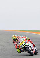 Italian rider Valentino Rossi in Grand Prix Motorland Aragon 2012