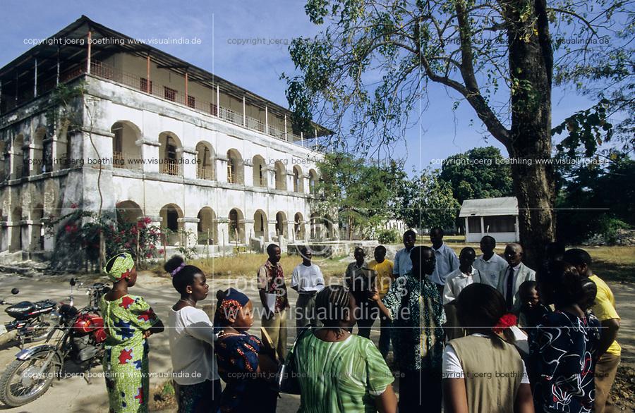 TANZANIA, Bagamoyo, old mission building from german colonial time / TANSANIA, Bagamoyo, altes Missionshaus aus der deutschen Kolonialzeit Deutsch-Ostafrika