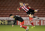 Sheffield United's Regan Slater and Crew's Owen Dale in action during the FA Youth Cup First Round match at Bramall Lane Stadium, Sheffield. Picture date: November 1st 2016. Pic Richard Sellers/Sportimage