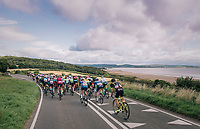 Racing next to the Irish Sea in/around Lake District National Parc / Cumbria<br /> <br /> Stage 6: Barrow-in-Furness to Whinlatter Pass   (168km)<br /> 15th Ovo Energy Tour of Britain 2018
