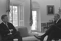 FILE PHOTO - John Lindsay<br />  and Lyndon B Johnson, august 1967