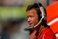 Sep 18, 2005; Seattle, WA, USA; Atlanta Falcons head coach Jim Mora watches action on the field against the Seattle Seahawks in the second quarter at Qwest Field. Mandatory Credit: Photo By Mark J. Rebilas