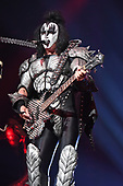 """SUNRISE FL - AUGUST 06: Gene Simmons of KISS performs during """"The End Of The Road World Tour"""" at The BB&T Center on August 6, 2019 in Sunrise, Florida. Photo by Larry Marano © 2019"""
