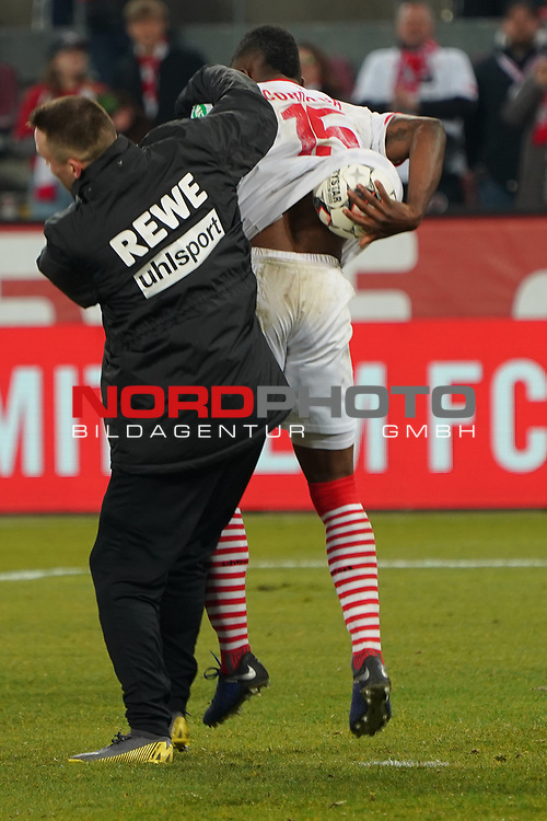 08.02.2019, RheinEnergieStadion, Koeln, GER, 2. FBL, 1.FC Koeln vs. FC St. Pauli,<br />  <br /> DFL regulations prohibit any use of photographs as image sequences and/or quasi-video<br /> <br /> im Bild / picture shows: <br /> Jhon C&oacute;rdoba (FC Koeln #15),   hat sich den Spielball gesichert<br /> <br /> Foto &copy; nordphoto / Meuter