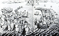 Maps:  Capture and burning of the San Salvador--1588.  Photo '84.