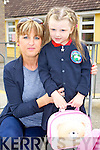 Linda and Katie O'Brien, pictured Listellick primary school on Wednesday morning.
