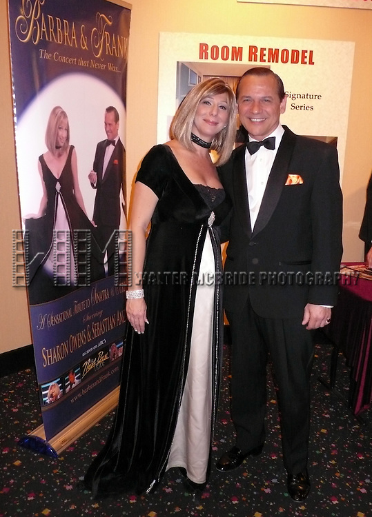 Barbra & Frank ... The Concert that never was... starring Sharon Owens as Barbra Streisand & Sebastian Anzaldo as Frank Sinatra with Musical Direction by Rob Hyatt at the Rivera Hotel in Las Vegas, Nevada..June 1, 2008.© Walter McBride   ...It is not probable that Barbra and Frank would have ever shared the same stage until now in Las Vegas. They never worked together except when they taped a duet in separate recording sessions, but it is tantalizing to think what it would have been like to have Barbra Streisand and Frank Sinatra teamed up for a concert tour. Near the end of the show, the tuxedoed Frank Sinatra turns to Barbra Streisand, who is attired in a stunning black and white gown, and says dismissive, why not go backstage and take a little rest and I will close the show. A moment of silence is followed by Streisand saying, in the trade mark Brooklyn accent, excuse me. The best concert that never was is playing in Las Vegas..