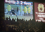 Burnley v Spurs League Cup Semi Final second leg Turf Moor, 21/01/2009. Trailing 1-4 from the first leg Burnley won 3-0 to force extra time before conceding two goals late in extra time.