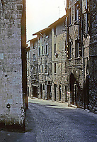 Italy: Gubbio--Via Dei Consoli, more or less the main street. Photo '83.