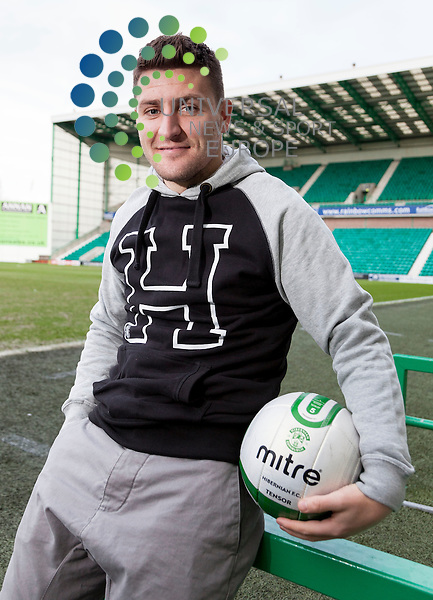 Hibernian Press call 7 February 2013..Embargo Saturday 9th February 2013..Gary Deegan talks to the media before the clash with St Johnstone on Monday 11Th February..Picture: Alan Rennie/Universal News & Sport