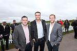 Celebrity Golf @ Golf Live.Tom Isaacs, Jamie Roberts & Rhys Blumberg..Celtic Manor Resort.12.05.13.©Steve Pope