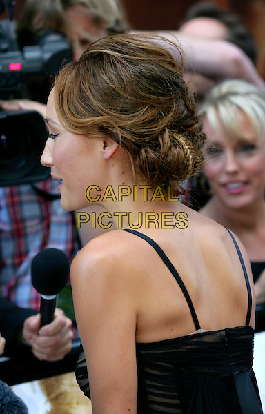 "MAGGIE Q.Leaving the UK premiere of ""Die Hard 4.0: Live Free or Die Hard"" at the Empire Leicester Square, London, England..June 20th, 2007.half  length black behind rear braid plait hair .CAP/CAM.©Andre Camara/Capital Pictures"