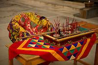 Ritual incense sticks in a Buddhist  Monastery, Sikkim, India