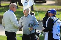 Actor Bill Murray during the first round of the AT&amp;T Pro-Am, Pebble Beach Golf Links, Monterey, California, USA. 07/02/2019<br /> Picture: Golffile | Phil Inglis<br /> <br /> <br /> All photo usage must carry mandatory copyright credit (&copy; Golffile | Phil Inglis)