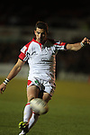 Ulster outside half Ruan Pienaar kicks a penalty..Celtic League.Newport Gwent Dragons v Ulster.Rodney Parade.26.10.12.©Steve Pope