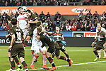 08.02.2019, Rheinenergiestadion, Köln, GER, DFL, 2. BL, VfL 1. FC Koeln vs FC St. Pauli, DFL regulations prohibit any use of photographs as image sequences and/or quasi-video<br /> <br /> im Bild Strafraumszene . Torchance von Jonas Hector (#14, 1.FC Köln / Koeln) <br /> <br /> Foto © nph/Mauelshagen