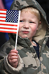 James Manning, 3, waves his flag at the Veteran's Day Parade in Virginia City, Nev., on Nov. 11, 2011..Photo by Cathleen Allison
