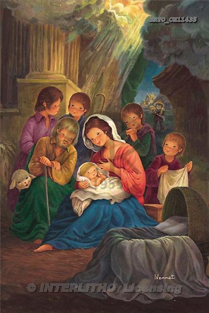 Sue Allison, HOLY FAMILIES, paintings, BRTOCH11435,#XR# Weihnachten, Navidad, illustrations, pinturas